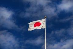 Флаг Японии с облаками Стоковые Фотографии RF