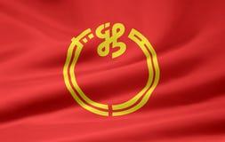 флаг япония niigata Стоковая Фотография