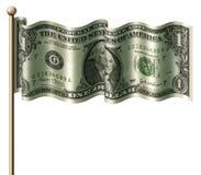 флаг доллара Стоковое Изображение RF