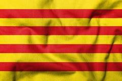 флаг 3d Каталонии Стоковое Изображение