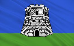 Флаг Bastia во Франции иллюстрация штока