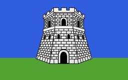 Флаг Bastia, Франции иллюстрация вектора