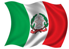 Флаг/Blazon Италии Стоковое Изображение RF