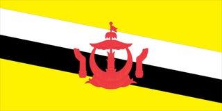 флаг brunei Стоковые Фотографии RF