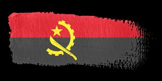 флаг brushstroke Анголы иллюстрация вектора