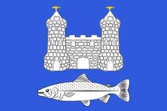 Флаг Chateaulin в Finistere в Бретань, Франции бесплатная иллюстрация