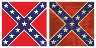 флаг confederate сражения Стоковое Изображение RF