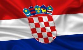 флаг coratia Стоковое Изображение