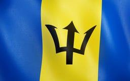 флаг 3D Барбадос иллюстрация вектора