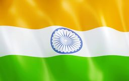 флаг 3D Индии Стоковые Фото