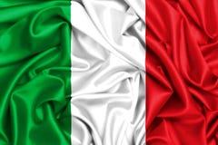 флаг 3d Италии развевая в ветре Стоковые Изображения