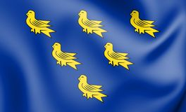 флаг 3D Сассекс иллюстрация штока