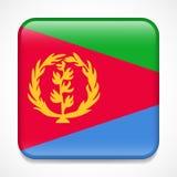 флаг eritrea Значок квадрата лоснистый иллюстрация вектора