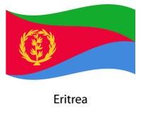 флаг eritrea Иллюстрация eps10 вектора значка Эритреи иллюстрация вектора