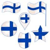 Флаг Finalnd выполненного в формах Defferent стоковое фото