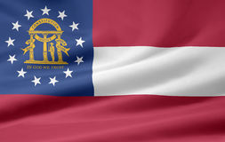 флаг Georgia Стоковое фото RF
