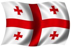 флаг georgian Стоковая Фотография