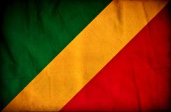 Флаг grunge Конго иллюстрация штока
