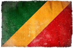 Флаг grunge Конго иллюстрация вектора