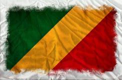 Флаг grunge Конго бесплатная иллюстрация