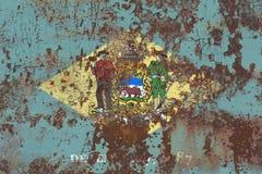 Флаг grunge положения Делавера, Соединенные Штаты Америки Стоковые Фото