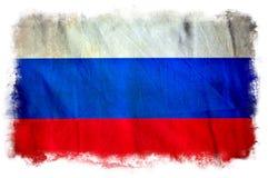 Флаг grunge России стоковые изображения