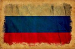 Флаг grunge России стоковое фото