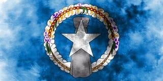 Флаг grunge Северных островов, государство объединенного иллюстрация вектора