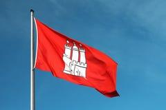 флаг hamburg города стоковые фотографии rf