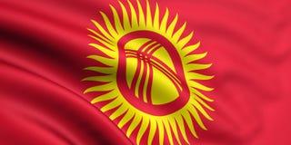 флаг kyrgyzstan Иллюстрация вектора