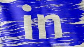 Флаг Linkedin акции видеоматериалы