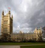 флаг london westminster аббатства стоковое изображение