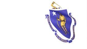 флаг massachusetts иллюстрация вектора