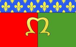 Флаг Meaux, Франции стоковое фото rf