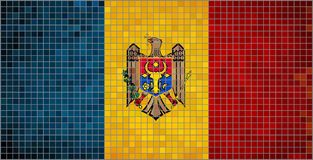 флаг moldova иллюстрация штока