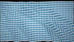 Флаг oktoberfest флаттеров в ветре, анимации национального традиционного флага oktoberfest, сток-видео
