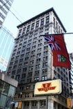 флаг ontario стоковые изображения