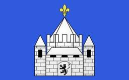 Флаг Provins, Франции стоковое изображение rf