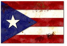 Флаг rico Pureto заржавел винтажный металл Montego Bay стоковое фото rf