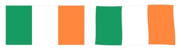 Флаг ROI Ирландской Республики Простое и немножко развевая versi иллюстрация штока
