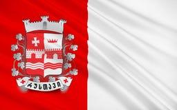 Флаг Rustavi, Грузии иллюстрация вектора