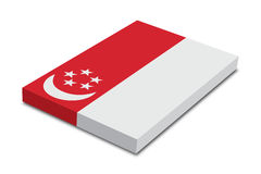 флаг singapore Стоковая Фотография