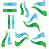 флаг uzbekistan собрания Стоковая Фотография