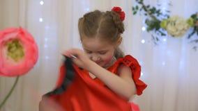 Фламенко маленькой девочки сток-видео