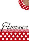 Фламенко плаката Фольклорный танец испанского языка стоковое фото rf