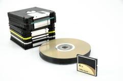 флапи-диск карточки cd Стоковое Изображение