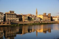 Флоренс, взгляд от Lungarno Soderini Стоковая Фотография RF