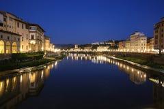 Флоренс, взгляд от Ponte Veccio Стоковая Фотография RF