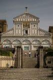 Флоренс, Италия - 24-ое апреля 2018: лестницы к al Monte San Miniato di базилики Стоковые Фото