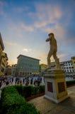 ФЛОРЕНС, ИТАЛИЯ - 12-ОЕ ИЮНЯ 2015: Экземпляр статуи Дэвида, ubicated в della Signoria аркады в Флоренсе, квадрат города Стоковые Фото